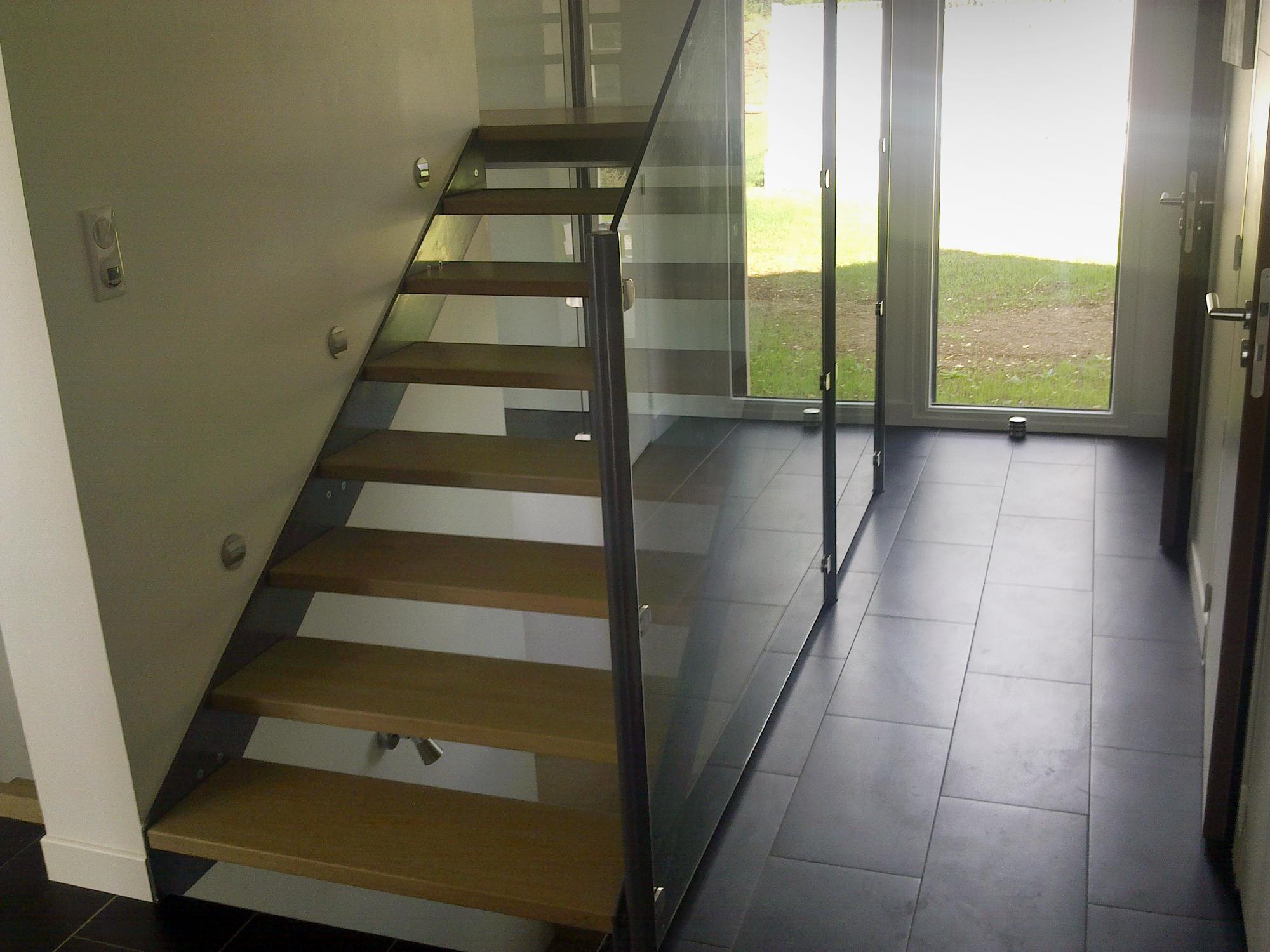 Escaliers - Mixte bois/métal